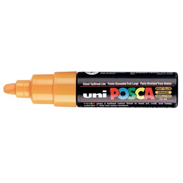 Posca verf stift PC7M oranje - Ronde punt